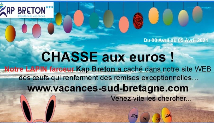 Pour Pâques , Kap Breton organise sa chasse aux EUROS !!